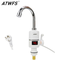 ATWFS Instant Hot Water Heater Tap Fast Instantaneous Thermostat For Water Heater 3000w Electrical Faucet Temperature