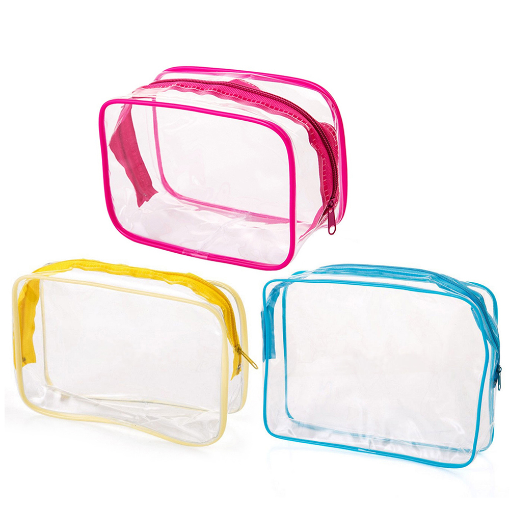 New Portable Travel Zip Look PVC <font><b>Bags</b></font> Waterproof Makeup Storage <font><b>Bag</b></font> <font><b>Cosmetic</b></font> Toiletry Pouch <font><b>Transparent</b></font> Home Sundries Organizer image
