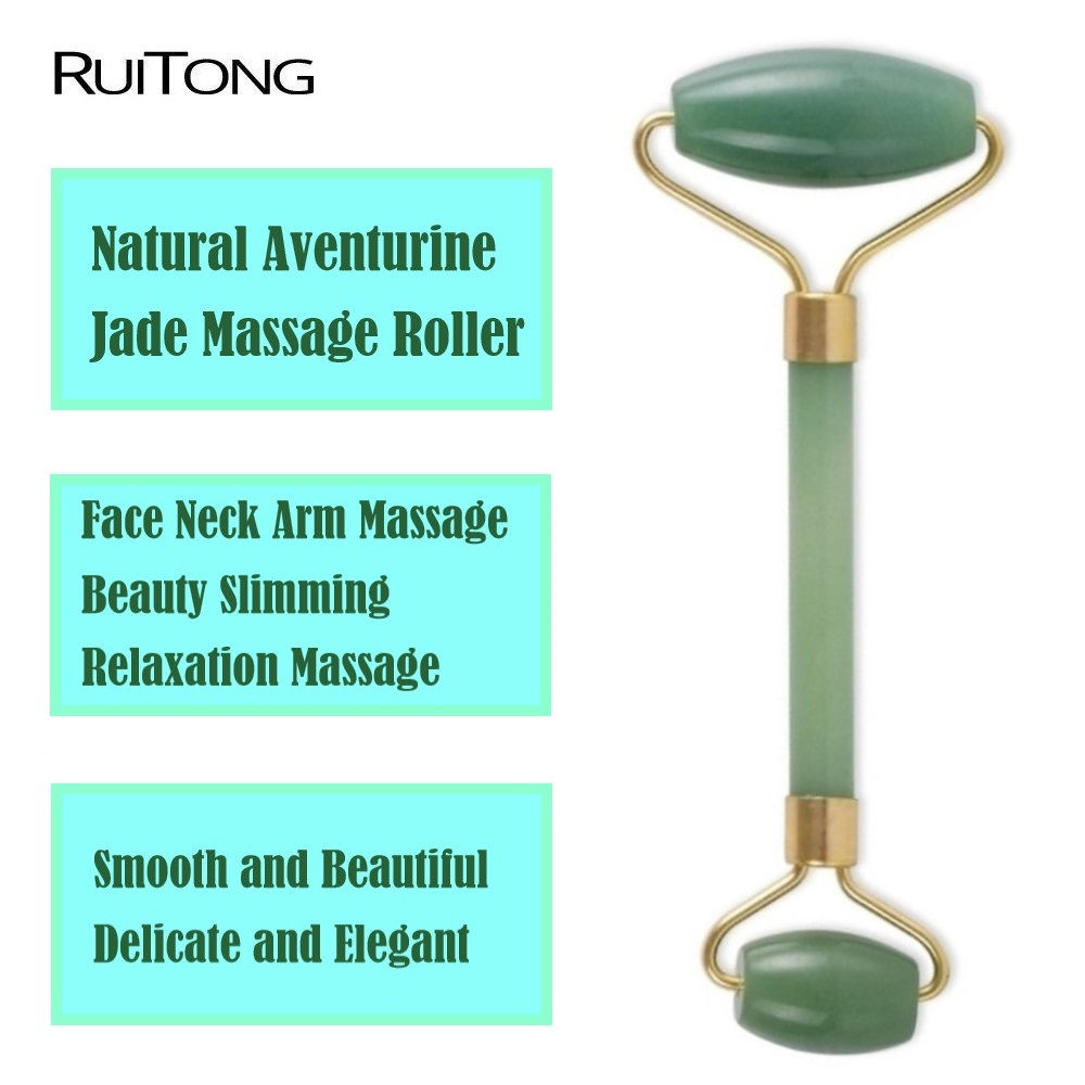 Natural Crystal Jade Rose Quartz Massage Roller Face Body Relax Slim Massager Anti Wrinkle Beauty Health Care Tools Wholesale