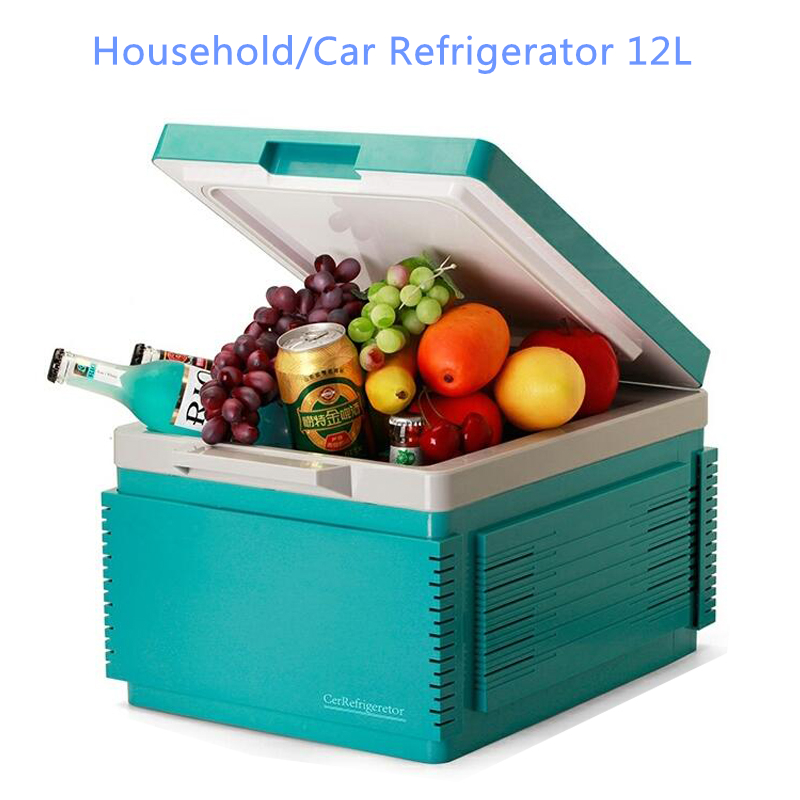 Mini car refrigerator Household  With A Gray Battery Function 12 Liters Portable Freezer For Car Bluetooth fridge FR-122A