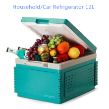 Mini car refrigerator Household  refrigerator With A Gray Battery Function 12 Liters Portable Freezer For Car Bluetooth FR-122A