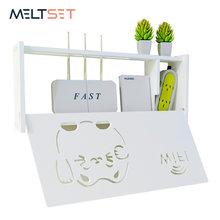Boîte de routeur Wifi sans fil Cat Smile, étagère murale en PVC, support de prise de courant, boîtes de rangement, organisateur de décoration de maison 3 tailles