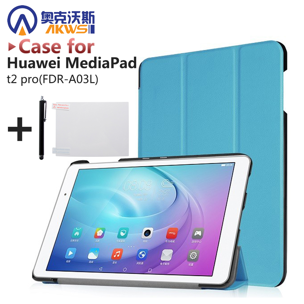 Smart slim PU stand cover case protective leather skin For Huawei MediaPad t2 pro 10(FDR-A03L) tablet protective leather skin new fashion pattern ultra slim lightweight luxury folio stand leather case cover for huawei mediapad t2 pro 10 0 fdr a01w a03l