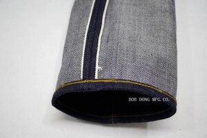 Image 3 - بنطلون جينز للرجال بوب دونغ 23 أونصة بلون أحمر من قماش الدنيم بقصة ضيقة