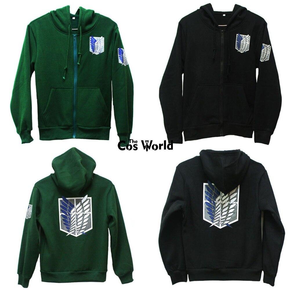 Attack On Titan Survey Legion Hoodie Sweatshirt Jacket Coat Cosplay Costume