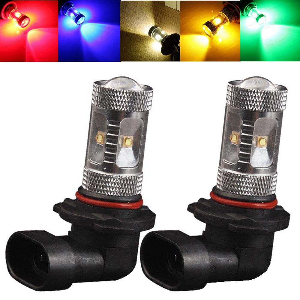 2pcs 9005 HB3 High Power 30W Bulb Fog Driving Amber Yellow White Green Blue Red LED Light 12V  highscreen для boost 2 se