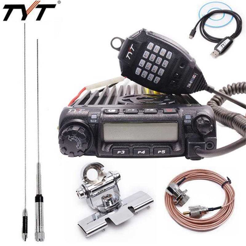 US $114 66 |TYT TH 9000D Mobile Radio transceiver VHF 136 174MHz 200CH 60W  Super Power High/Mid/Low mode selectable Walkie Talkie Car Radio -in Walkie