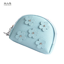 flower women coin purses mini small wallets for girls ladies cute macaroon candy colors key headset bags