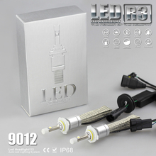 High Quality 9600lm 9012 6000K Automobile LED Foglight Daytime Lamp Headlight Conversion Kit 80W Silver Alumminum Sheath