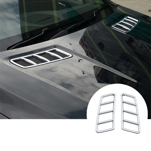 Exterior Hood Air Vent Cover Trim For Benz ML W166 2012-2015  GL X166 2013-2015 2pcs