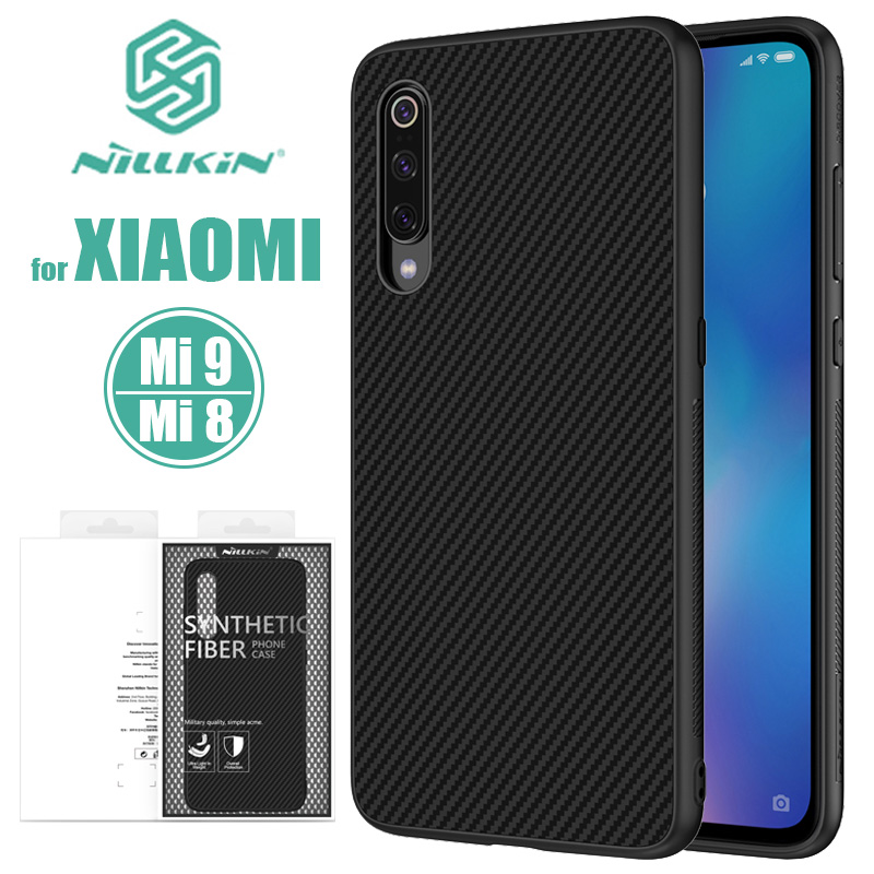 <font><b>Xiaomi</b></font> <font><b>Mi</b></font> 9 <font><b>Mi</b></font> 8 Nillkin Synthetic Fiber Hard Back <font><b>Cover</b></font> Case Xiaomi9 Phone Case for <font><b>Xiaomi</b></font> Mi8 Mi9 <font><b>Mi</b></font> 9 Explorer Nilkin Case image