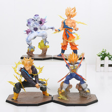 Anime Dragon Ball Z Action Figures Super Saiyan Vegeta Battle Ver. 15CM Doll Collectible Figurine