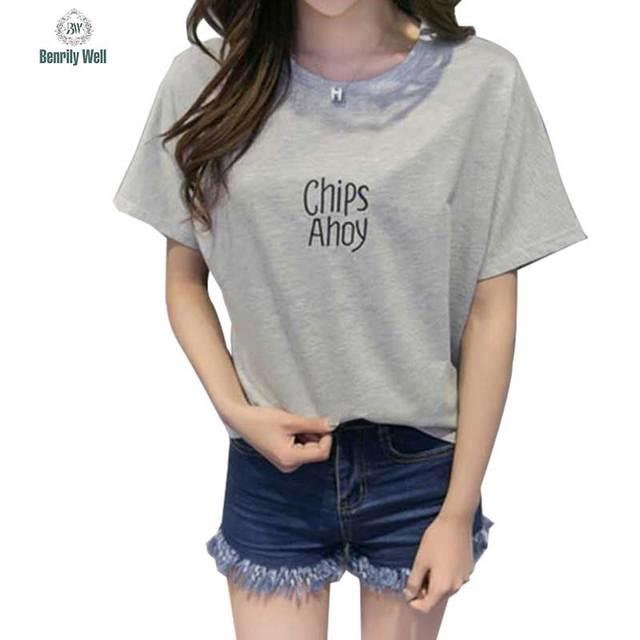 3 Цветов 2017 Женщины Лето майка Корейский Милые Топы tumblr принт футболка  ткани femme кофе с b96ccde577573
