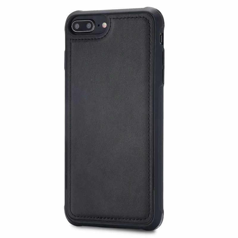 กรณีกันกระแทกสำหรับ iPhone 7 Plus Retro PU หนังรถติดตั้งโทรศัพท์มือถือสำหรับ iPhone 8 PLUS