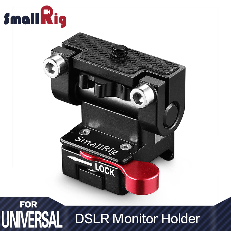 SmallRig Dual Camera EVF Mount with a Nato Clamp Quick Release Adjustable Monitor Holder ...