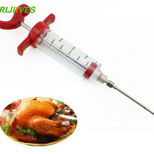 Needles-Injector Syringes Kitchen-Tool Meat-Sausage-Stuffer Stainless-Steel 30ML