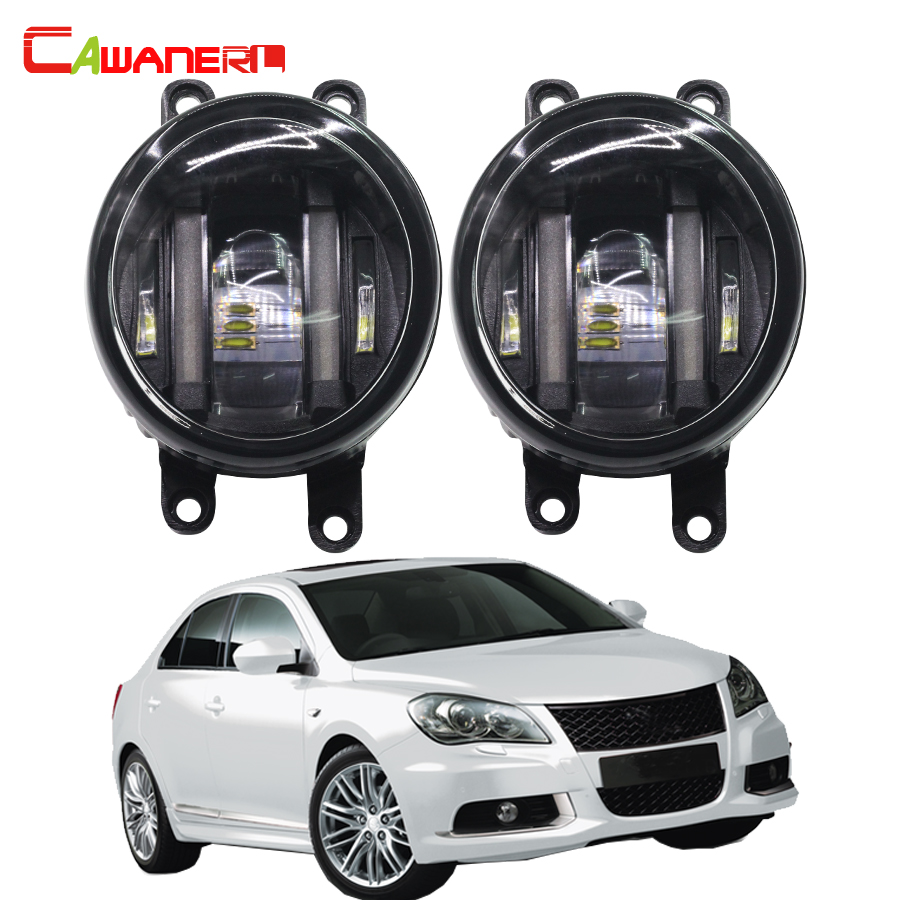 Cawanerl 2 X Car Light Source LED Fog Light White Daytime Running Lamp DRL For Suzuki Kizashi (FR) Saloon 2.4 4x4 2010 Onward leadtops car led lens fog light eye refit fish fog lamp hawk eagle eye daytime running lights 12v automobile for audi ae
