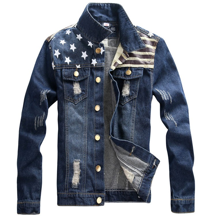 Denim Jacket men USA Design fashion Jeans Jackets Slim fit American Style Vintage Mens Jacket and Coat outdoors Jeans clothing (10)
