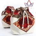 2017 Africanos nueva moda bucket bolsos de las mujeres hechas a mano portátil solo bolso de hombro de las mujeres bolsas WYA172