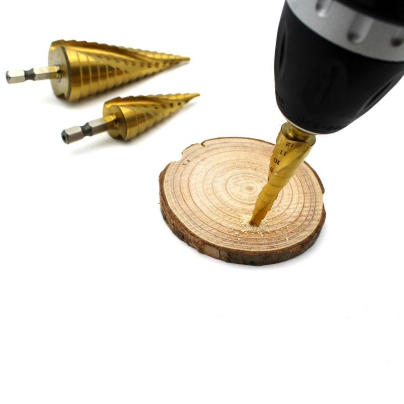Juego de brocas de acero HSS de alta velocidad de 3 piezas 4-12 mm - Broca - foto 5