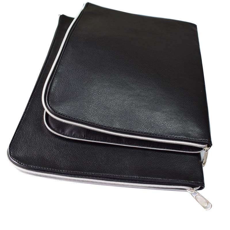 Document Bag Waterproof PU Leather File Folder (2 Pieces/Lot, One Big And One Small 28*37.5 cm And 25*35 cm) Office Supplies