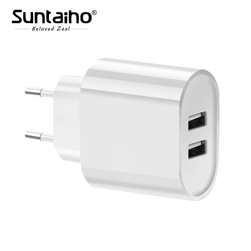 Suntaiho Portable USB Charger Travel Wall Charger Adapter EU Plug Smart Mobile Phone Charger for Iphone/Xiaomi/LG/Smartphone
