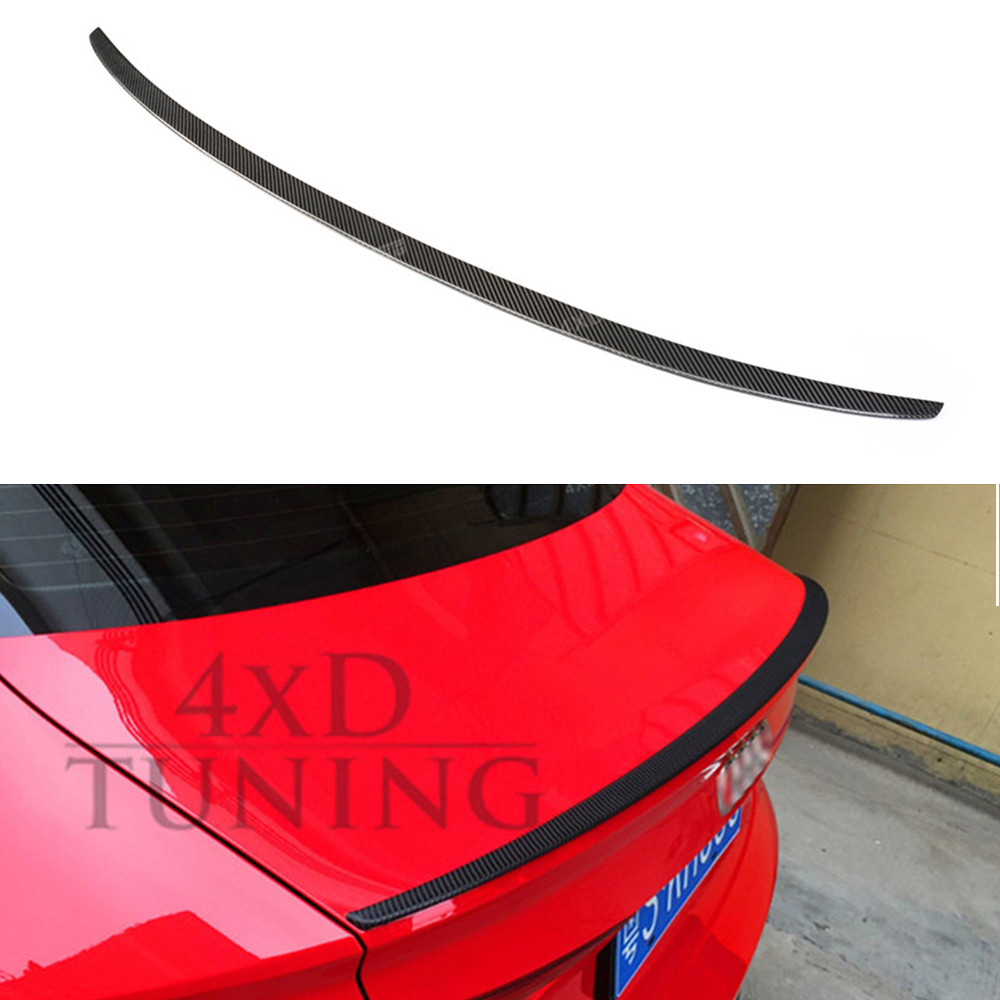 For Audi A3 Carbon Rear Spoiler S3 Style Carbon Fiber Rear Spoiler Trunk Wing Gloss Black Finish 2014 2015 2016 2017 - UP e60 carbon fiber rear trunk boot wing lip spoiler for bmw 5series m5 style 05 11