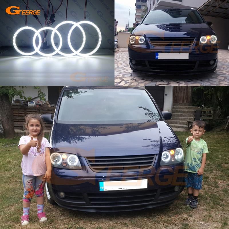 For Volkswagen VW Touran 2003 2004 2005 2006 Excellent led Angel Eyes Ultra bright illumination smd led Angel Eyes kit DRL