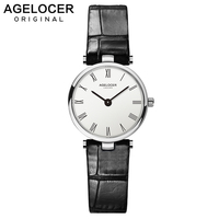 AGELOCER Women Watches Swiss Brand Watch Luxury Small Utra Slim Casual Waterproof Clock Dress Watches USA Domestic Shipping