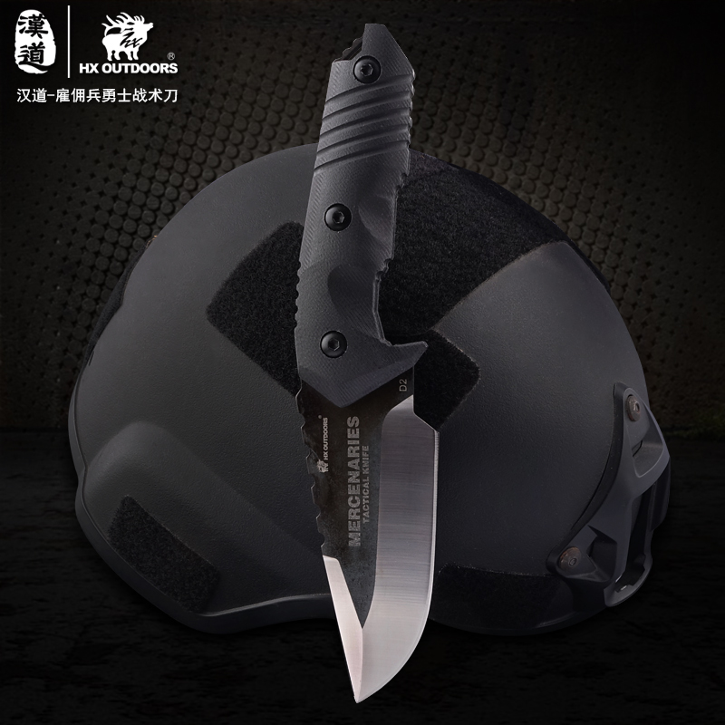 HX OUTDOORSHard Tough D2 Steel Fixed Blade Hunting Knife Outdoor Survival Knives amp  Sheath factory For Hiking Hot Sale