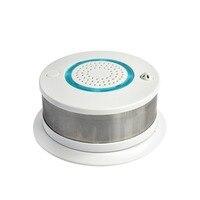 Smart WIFI + APP Fire Smoke & Temperature Sensor Wireless Smoke Temperature Detector Home Security Alarm System