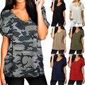 S-5XL 7 Color Nuevo de Las Mujeres Camisetas de Algodón de Verano de Manga Corta con cuello en v Camiseta Top Camiseta Básica Informal Blusas poleras de mujer