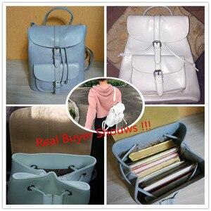 Image 5 - Miyahouse PU skórzane plecaki modne kobiece sznurkiem torby podróżne Retro torby szkolne kobiety wysokiej jakości plecak Mochila