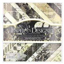 YPP CRAFT 36sheets/lot Vintage Black floral pattern creative papercraft art paper handmade scrapbooking kit set books