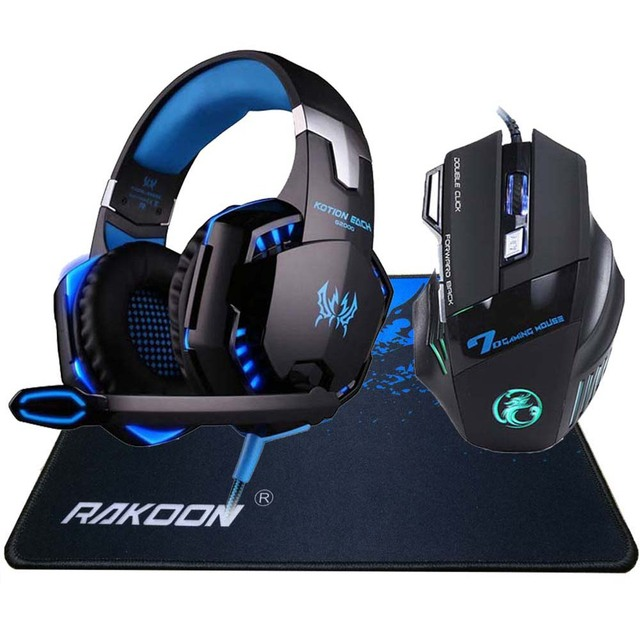 5500 DPI X7 Pro Gaming Mouse+ Hifi Pro Gaming Headphone 1