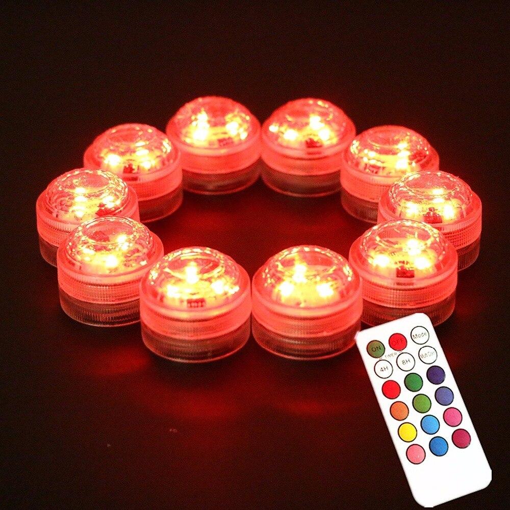 20 stk / lot LED Hvit nedsenkbar blomstervase Super Bright Bryllup - Ferie belysning - Bilde 4