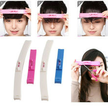1 Set New Women Girl Hair Trimmer Fringe Cut Tool Clipper Comb Guide For Cute Hair Bang Level Ruler Hair Accessories NA1252