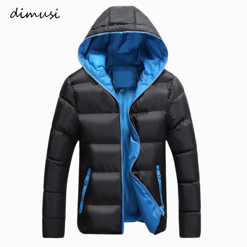 DIMUSI Men Winter Jacket Fashion Mens Cotton Thick Warm Hooded Thermal   Parkas   Male Casual Hoodies Windbreaker Coats Clothing
