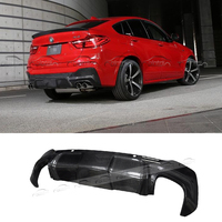 3D Style Car Styling For BMW F26 M Tech Carbon Fiber Diffuser Rear Lip Bumper Spoiler Splitter M Sport