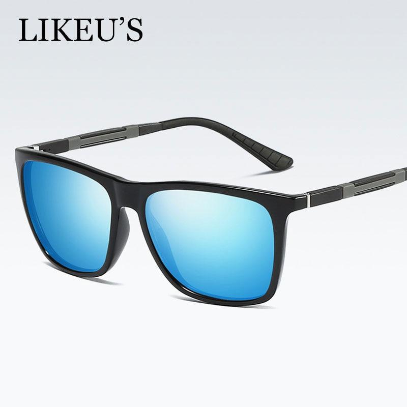 e0e760e1677b93 LIKEU S Nouvelle Arrivée Classique lunettes de Soleil Polarisées Hommes  Femmes Conduite Mode Conduite Unisexe Soleil Lunettes Mâle Lunettes UV400  Lunettes