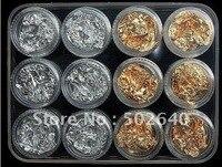 Wholosale Nail Foil Gold Silver 12 Pcs Set Free Shipping