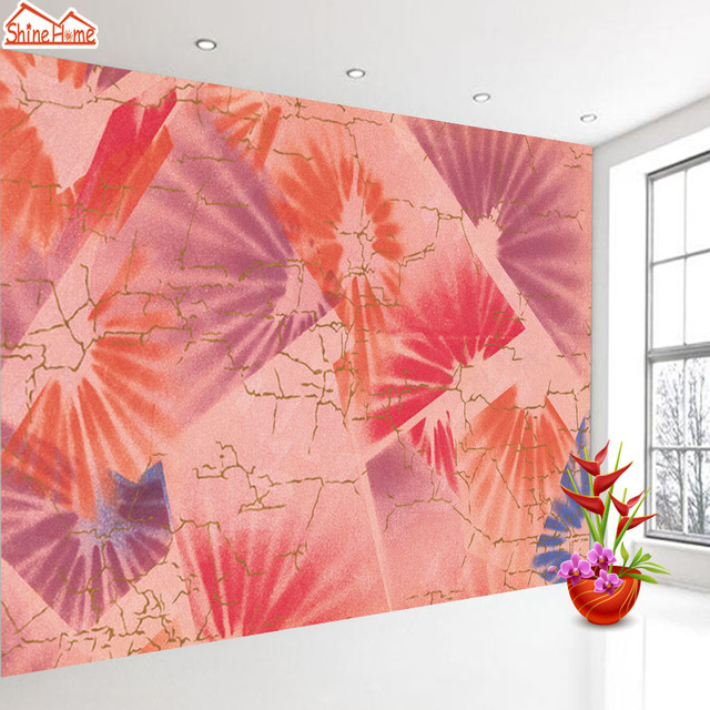 ShineHome Color Rays Leaf Strip 3d Wallpaper for Walls 3 d ...
