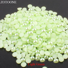 ZOTOONE 1000Pcs 2-5mm Flatback Half Round Beads For Jewelry Accessories Rhinestones DIY Phone Nail Art Stones Clothes Strass