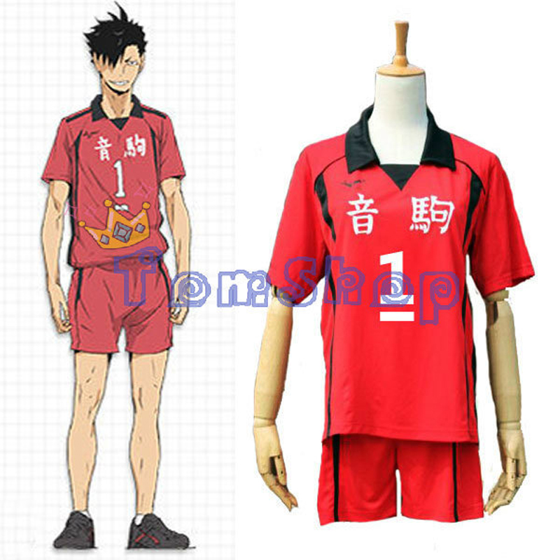Haikyuu!! Nekoma High School #1 Tetsuro Kuroo Cosplay Costume Jersey&Shorts SET Sportswear Uniform Free Shipping