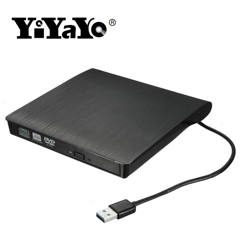 YiYaYo USB 3.0 External DVD/CD ROM Drive Burner Slim Portable Driver CD/RW Player Writer For windows10/7/8/Mac Laptop PC Desktop baellerry small mens wallets vintage dull polish short dollar price male cards purse mini leather men wallet carteira masculina