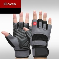 WHO PU Fitness Sports Weightlifting Weight Lifting Men Women Gym Gloves Mitts Thicken Half Finger Summer
