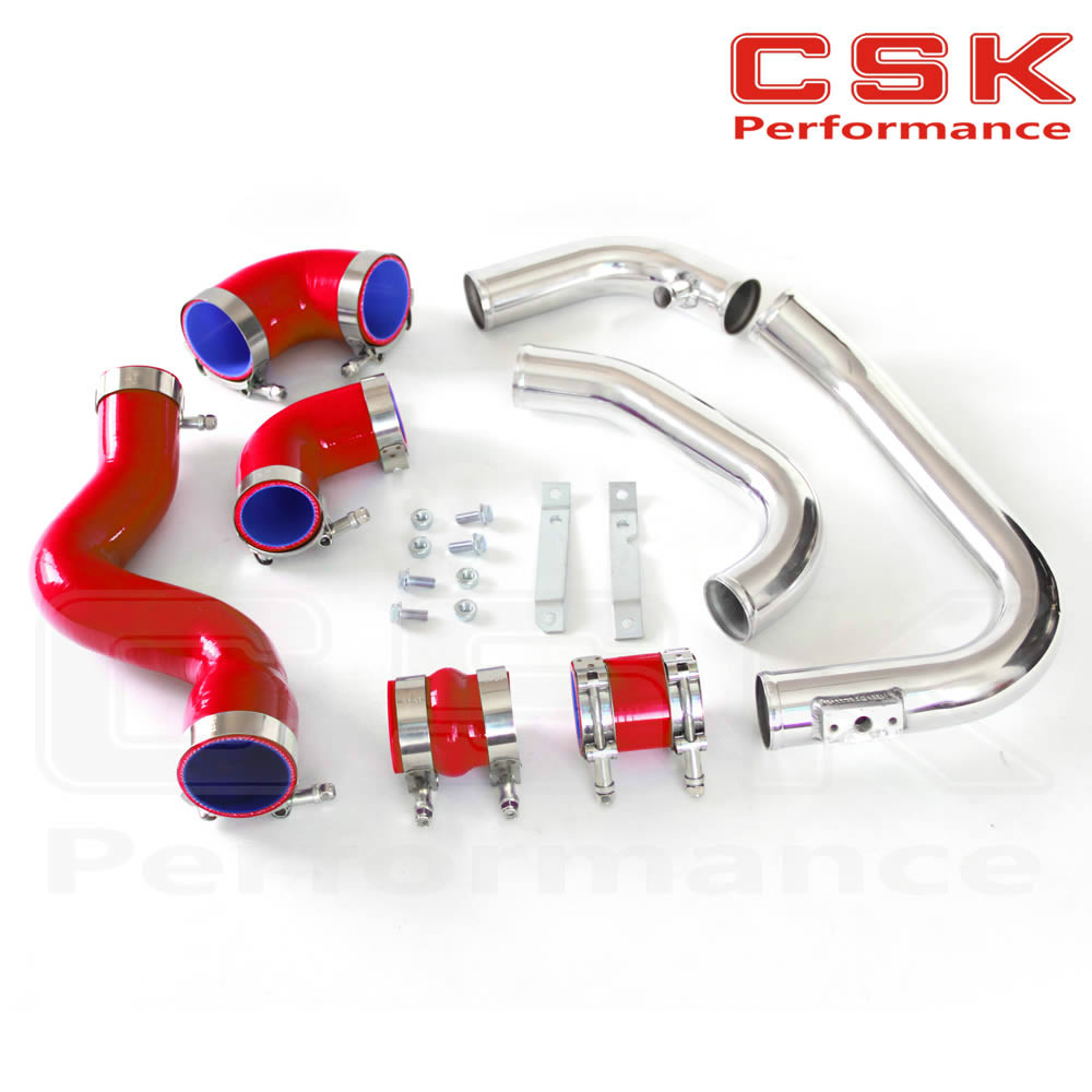 New Intercooler Piping Kit for Audi A4 1.8T Turbo B6 Quattro 2002-2006 Red 1 piece for a4 1 8t 2002 2006 power steering pump 8e0145153h for audi