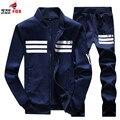 Conjunto de ropa Deportiva masculina de Rayas y-8 Hombres Activo Chándales sudadera sportsuit Hombres ropa de marca tamaño 5XL, 6XL, 7XL, 8XL, 9XL