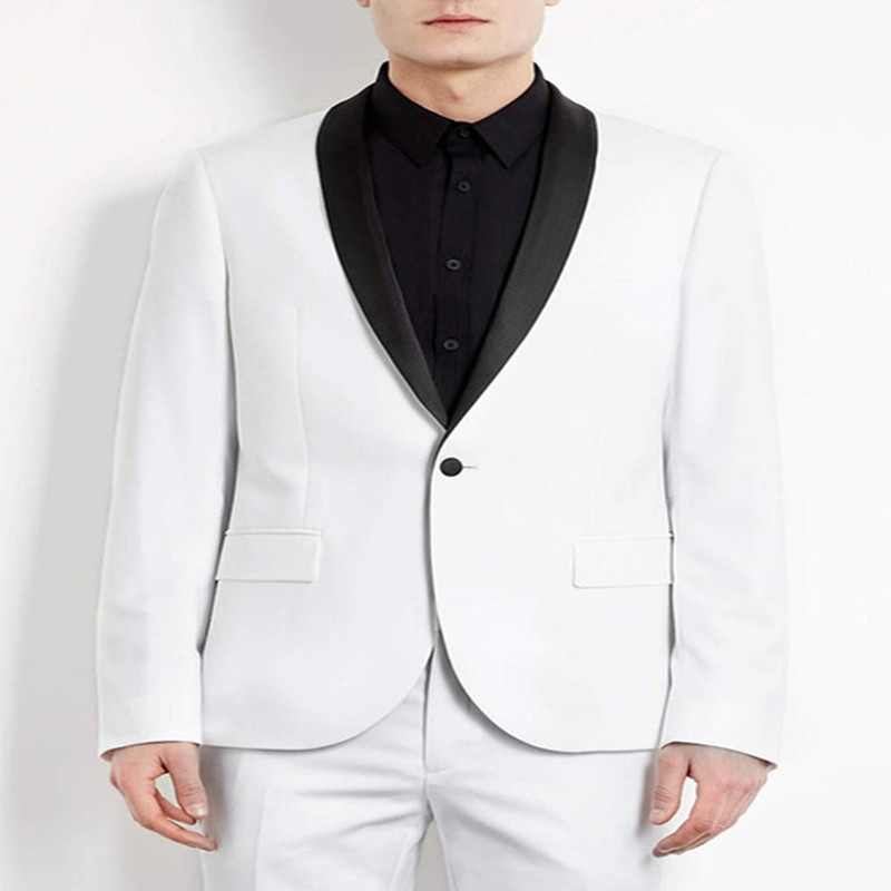 2 pieces Suit  Groom Tuxedos Shawl Lapel One Button  Wedding Suit Prom Dresses( jacket+Pants+tie)