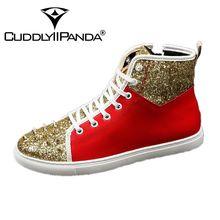 CUDDLYIIPANDA Men Casual Loafers Spring Autumn Casual Men Flat British Design Microfiber Men Rivet Top Quality Fashion Top Shoes